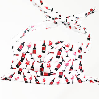 Maseczka ozdobna Wino