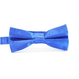 Niebieska muszka męska oraz poszetka - upominek na rocznicę dla męża