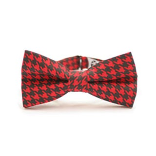 elegant pattern for a stylish man, classic houndstooth bow tie