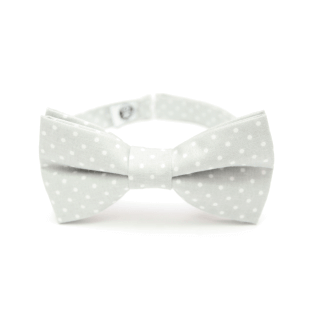 classic bow tie for men – gray accessory for suit