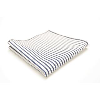 elegancka poszetka w biało-niebieskie paski