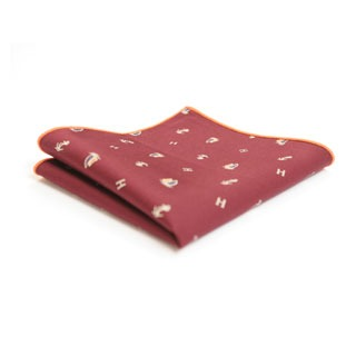 red nautical pocket square is an exclusive naval accessory
